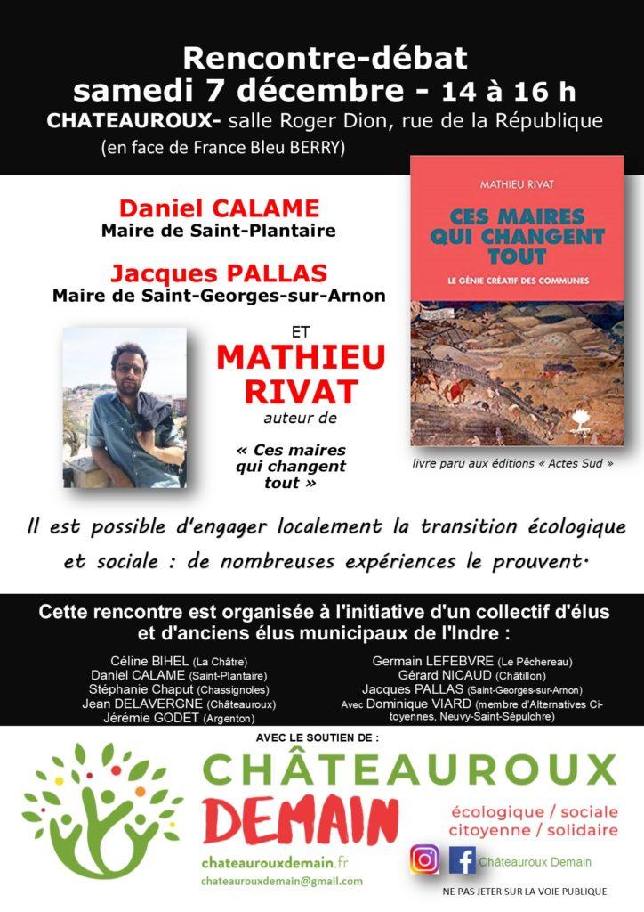"""Rencontre/Débat : """"engager localement la transition écologique et sociale"""" 1"""
