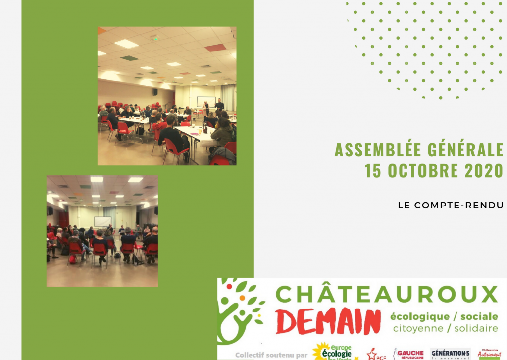 Assemblée générale Châteauroux Demain du 15/10/2020