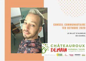 Billet d'humeur: Djamal au conseil communautaire du 1er/10/2020