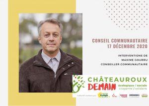 Les interventions de Maxime Gourru lors du conseil communautaire du 17 décembre 2020