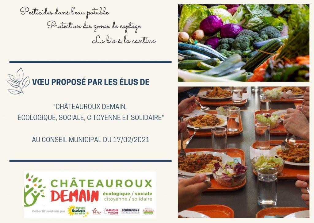Vœu de Châteauroux Demain au conseil municipal du 17/02/2021