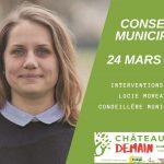 Les interventions de Lucie Moreau au conseil municipal du 24 mars 2021