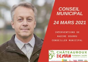 Les interventions de Maxime Gourru au conseil municipal du 24 mars 2021