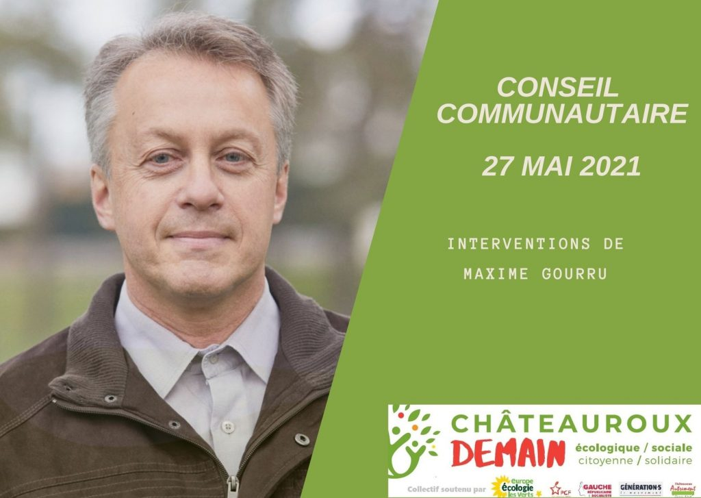 Interventions de Maxime Gourru au conseil communautaire du 27 mai 2021
