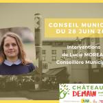 Interventions de Lucie Moreau au conseil municipal du 28 juin 2021