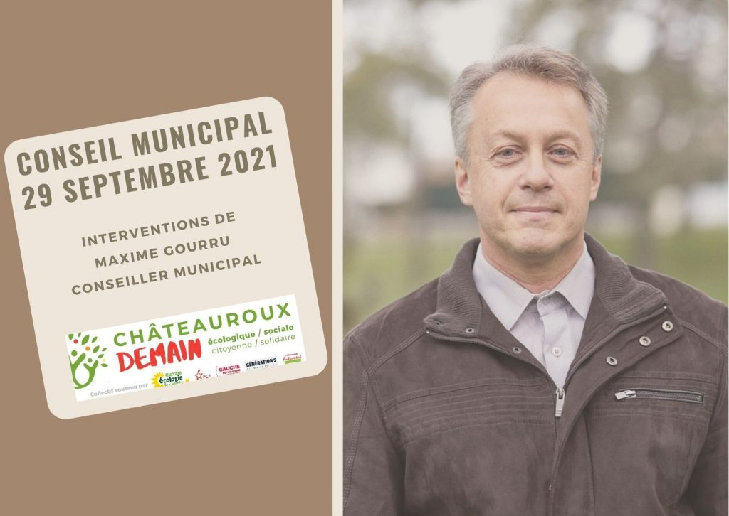Interventions de Maxime Gourru au conseil municipal du 29 septembre 2021 1