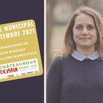 Interventions de Lucie Moreau au conseil municipal du 29 septembre 2021